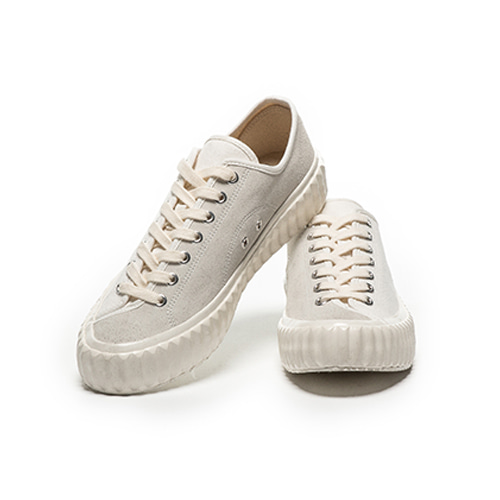 SKID Low_Steam White / Suede